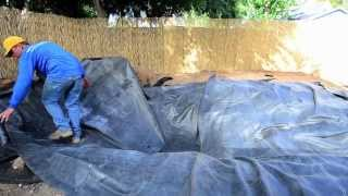 How To Build A Fish Pond   Part 6 | Pond Liner & Underlayment