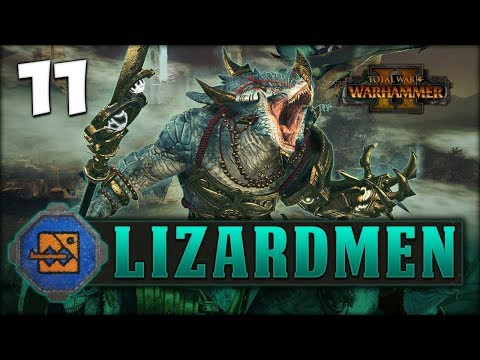 ELVEN ADVENTURE! Total War: Warhammer 2 - Lizardmen Campaign - Kroq-Gar #11