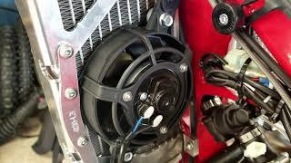 21 Beta 300RR Race Bike Build   Radiator Cooling Fan  Episode 8