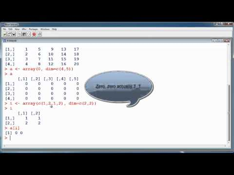 R Tutorial #6 – Arrays and Matrices – Statistical Programming Language R