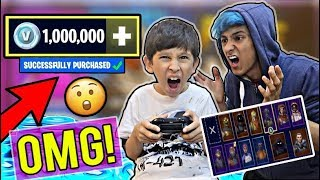 MY 10 YEAR OLD LITTLE BROTHER SPENDS $10,000 ON FORTNITE! [MUST WATCH]