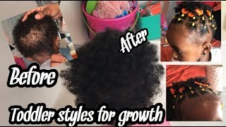 EASY PROTECTIVE HAIRSTYLE FOR SHORT HAIR | BLACK KIdS| TODDLER HAIRSTYLES FOR SHORT NATURAL HAIR /