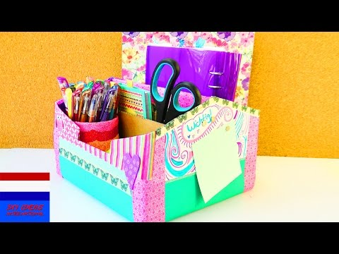 grote opbergdoos maken voor op je bureau   EINDELIJK orde   back to school   vakantieproject