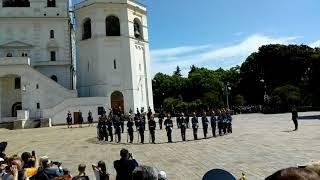 Выступление РСК Президентского полка на Соборной площади Кремля в день Присяги ПП - 02.06.18