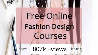 Free Online Fashion Design Courses // Learn Fashion Design At Home