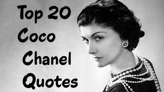 Top 20 Coco Chanel Quotes     The French Fashion Designer