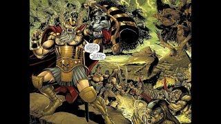 Odin, Thor and Loki vs Anubis, Horus and Bast - Siege of Egypt