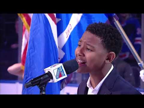 WanMor Performs National Anthem at NY Rangers Game 11-10-19
