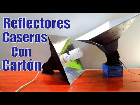 REFLECTORES DE LUZ CASEROS HECHOS CON CARTON Lampara De Iluminacion Casera