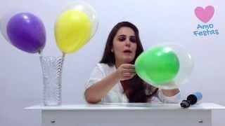 """Aprenda como fazer uma decoração de balões (bexigas) bastante legal. Aprenda como colocar um balão dentro do outro. Quer aprender mais dicas sobre festas, festa infantil e decoração de balões (bexigas)? Conheça a Amo Festas!  - Inscreva-se em nossa comunidade de festas - http://amofestas.com/comunidade/ - Visite nosso site - http://amofestas.com - Curta nossa página no Facebook - http://facebook.com/amofestas  - Não deixe de se inscrever no nosso canal do YouTube - Gostou? Então clique em """"Gostei"""" e compartilhe com suas amigas e familiares."""