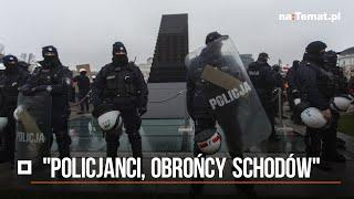 """""""Policjanci, obrońcy schodów"""". Te zdjęcia z protestu kobiet staną się symbolem"""