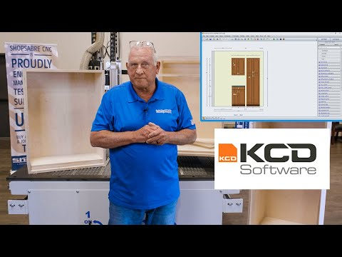 KCD Cabinetry Software Sample Cutting with ShopSabre CNC Router!video thumb