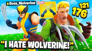 I Trolled Him With NEW Wolverine Boss! (Fortnite Wolverine Claws)