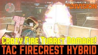 The Division: ULTIMATE TAC FIRECREST & NINJABIKE HYBRID BUILD! Amazing Flame Turret DPS!
