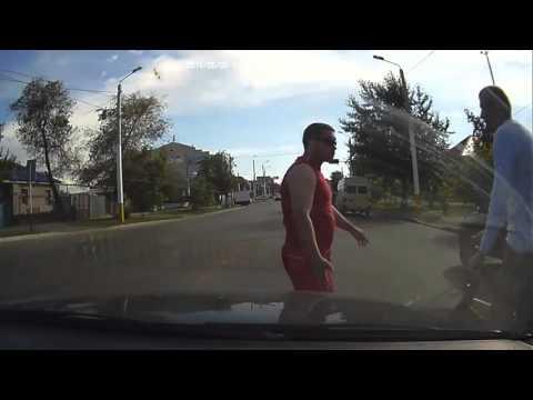Дтп с велосипедистом  Костанай 2 07 2015