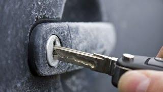 BEST WAY TO DE-ICE YOUR FROZEN CAR LOCK!