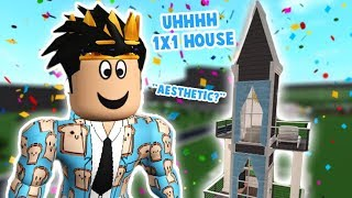 I tried building the nicest 1x1 BLOXBURG HOUSE I could make... I'm not ok