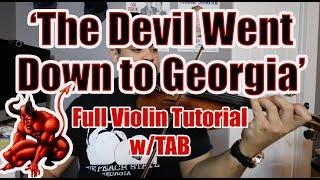 'The Devil Went Down to Georgia' (Charlie Daniels) Violin Tutorial