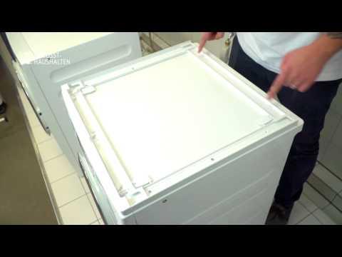Wie kann ich eine Säule aus Trockner und Waschmaschine aufstellen?