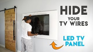 How to make a TV panel - Wall mount a TV and hide the wires