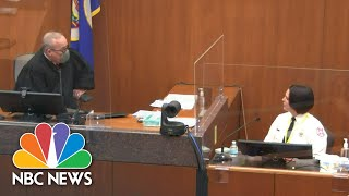 'Do Not Argue With The Court': Chauvin Trial Judge Warns Witness In Tense Exchange   NBC News NOW