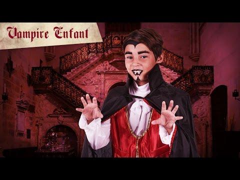 Maquillage de vampire d'Halloween pour enfant