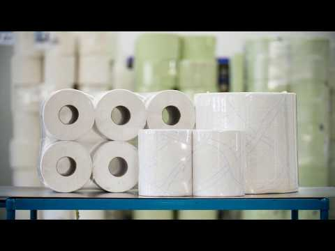 Verpacken von Tissuerollen als Einzel-, Doppel-, oder Sechserpack