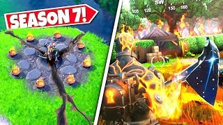 *NEW* BURNING FLAMES *SPREADING* AT WAILING WOODS AS NEW EARTHQUAKE CRACKS FOUND! SEASON 8 UPDATE!