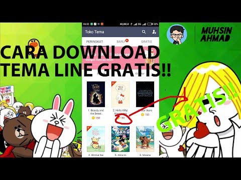 Video CARA DOWNLOAD TEMA LINE GRATIS TANPA KOIN!!!