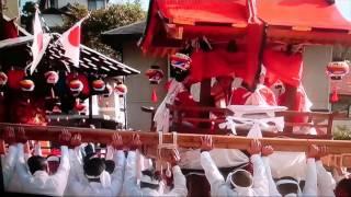 広島県安芸郡坂町平成27年坂八幡神社秋季例大祭刎条迫頂載寄進