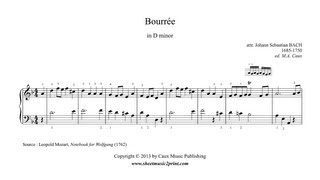 Bourrée in D minor - Notebook for Wolfgang