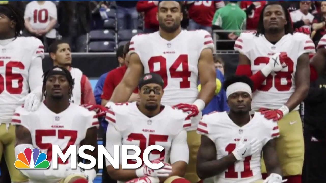 Fmr. NFL Star Slams Trump Says Players Will Fight Anthem Decision | The Beat With Ari Melber | MSNBC thumbnail