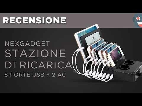 Recensione Stazione di Ricarica NexGadget | 8 Porte USB con 2 AC Caricabatterie