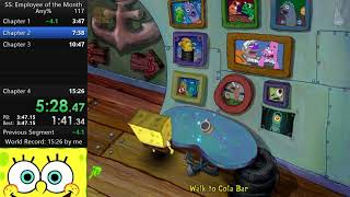 Spongebob Squarepants: Employee of the Month Any% Speedrun in 15:14