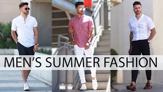 3 EASY SUMMER OUTFITS FOR MEN 2018 | MENS FASHION & STYLE INSPIRATION LOOKBOOK | Alex Costa
