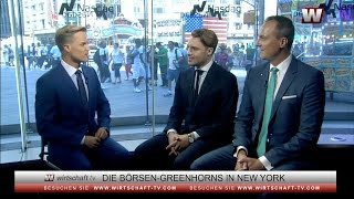 Börsen-Greenhorn-Gewinner David Chevalier und XTB in New York