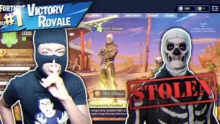 I HACKED KID'S SKULL TROOPER ACCOUNT AND THIS HAPPENED... NASTIEST FORTNITE PRANK EVER!