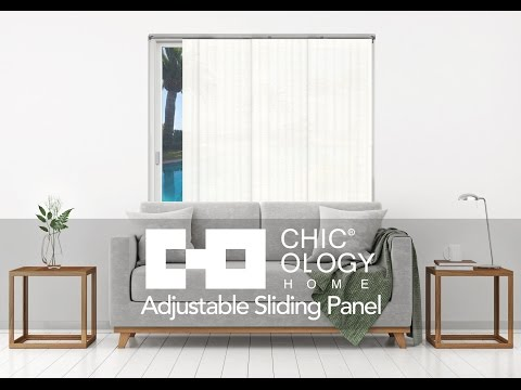 Video for Birch White 96-Inch x 80-Inch Adjustable Sliding Panel