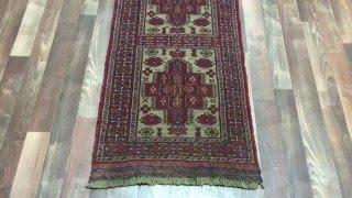 Semi-Antique Red Persian Baluch Runner Rug 2X8'5 - 1793