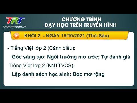 Lớp 2: Tiếng Việt (2 tiết). - Dạy học trên truyền hình TRT ngày 15/10/2010