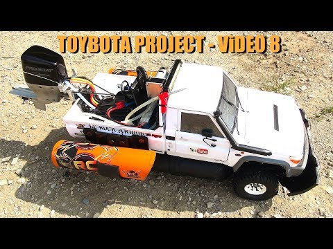 RC ADVENTURES - TOYBOTA PROJECT - PT 8 - BBC TOP GEAR TRiBUTE BUiLD - TOYOTA LC70 TRUCK-BOAT