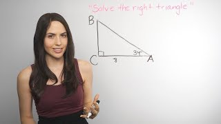 Trigonometry: Solving Right Triangles... How? (NancyPi)