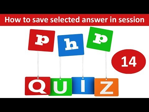 save selected answer in session in online quiz in php