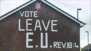 Bible verse linked to Brexit mural appears on gable wall in Tiger