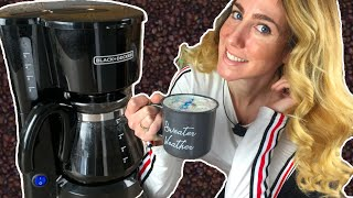Black and Decker 5 Cup Coffee Maker Review - Christmas Coffee Recipe