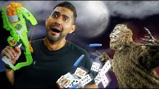 NERF Survive the Night Challenge! One Night Ultimate Werewolf Game!