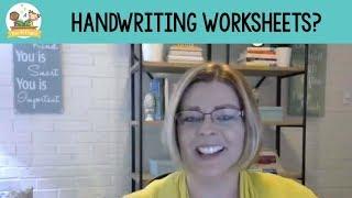 Handwriting Worksheets For Preschool?