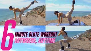 6 MINUTE GLUTE BURNING WORKOUT | ANYTIME ANYWHERE | JEN SELTER
