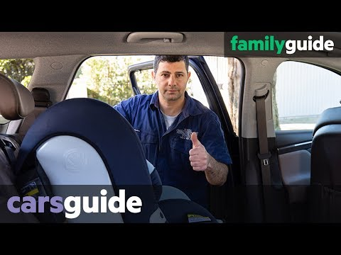 How to install a front facing baby car seat