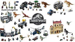 All Lego Jurassic World : Fallen Kingdom Sets 2018 - Lego Speed Build Review